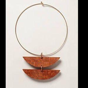 Anthropologie media Luna necklace by Sophie Monet.